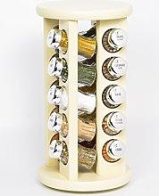 GALD POLAND 20 Jar Revolving Wooden Spice Rack
