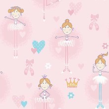 Galerie G56002 Just 4 Kids 2 Wallpaper, Pink