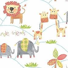 Galerie G56023 Just 4 Kids 2 Wallpaper, Orange