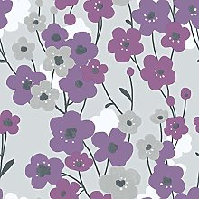 Galerie G56347 Tempo Wallpaper, Purple