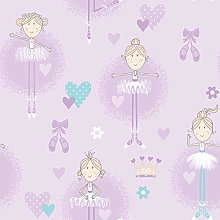 Galerie G56507 Just 4 Kids 2 Wallpaper, Purple