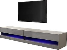 Galicia 150cm LED Wall TV Unit - Grey