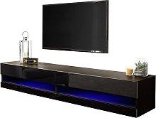 Galicia 180cm LED Wall TV Unit - Black