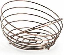 Galileo Casa 2415563Fruit Bowl, Satin Steel,