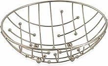 Galileo Casa 2415579Fruit Bowl, Satin Steel,