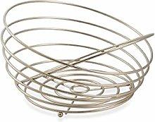 Galileo Casa 2415585Fruit Bowl, Satin Steel,
