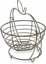 Galileo Casa 2415588Fruit Bowl, Satin Steel,