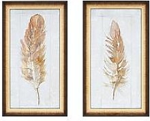 Gallery Autumn Feather Set Of 2 Framed Wall Art