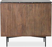 Gallery Direct Bari Marble Storage Cabinet,