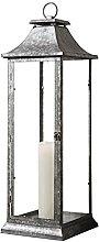Gallery Direct Harrogate Metal Lantern, Glass,