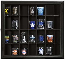 Gallery Solutions 18x16 Shot Glass Hinged Front