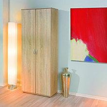 Gallo Storage Wardrobe With Shelving 2 Door In Oak