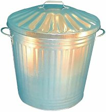 Galvanised Dustbin With Lid 90L 344197 - SBY14538