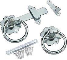 Galvanised Gate Ring Latch Handle & Fixings -