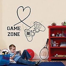 Game Zone Sign Removable Wall Decal Boy Teen Game