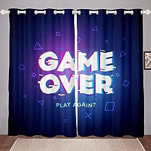 Gamer Blackout Curtain for Bedroom Boys Computer