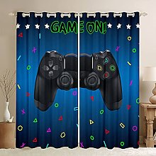 Gamer Curtains Teens Boys Gaming Curtain For