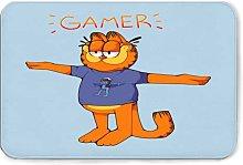 Gamer Garfield Flannel Bath Mat Non Slip Extra