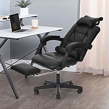 Gaming Chair Black Office Chair with Footrest