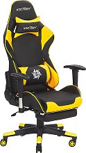 Gaming Chair Black with Yellow VICTORY