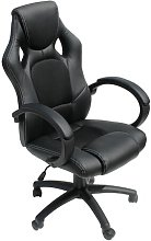 Gaming Chair Symple Stuff Upholstery: Black