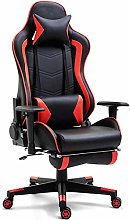 Gaming Chair with Footrest,Racing Style Reclining