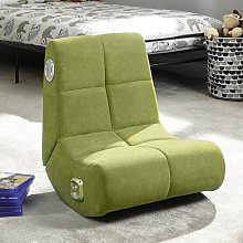 Gaming Chair X Rocker Upholstery Colour: Lime Green