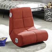 Gaming Chair X Rocker Upholstery Colour: Red