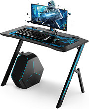 Gaming Computer Desk 110X59X75cm w/ Mouse Pad Work