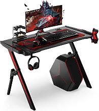 Gaming Computer Desk 110X70X75cm RGB LED Lights w/