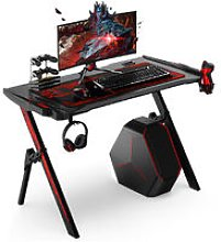 Gaming Computer Desk Gamers W/ LED Light Cup