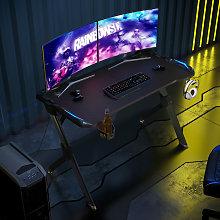 Gaming Computer Desk with LED Lights Studio