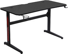 Gaming Desk, L-shape PC Computer Table with Carbon