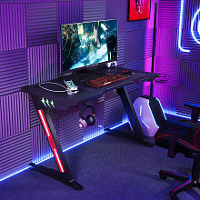 Gaming Desk PC Computer Table with Cup Holder