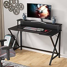 Gaming Desk, X-Shaped PC Computer Gaming Desk with