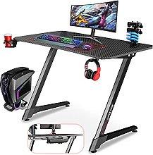 Gaming Desk Z Shape- Dripex, 110 cm Computer Gamer
