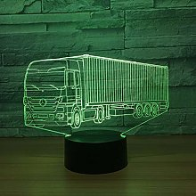 Gaming Lights Cool Container Truck 3D 7 Color Lamp