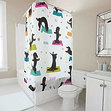 Gamoii Dachshund Dog Shower Curtains Bathroom