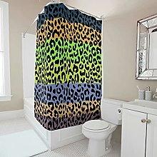 Gamoii Rainbow Colourful Leopard Print Shower