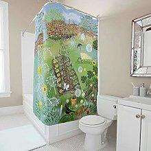 Gamoii Shower curtain bath curtain flower