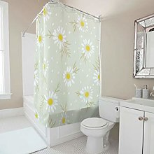 Gamoii Spring Flowers Daisy Shower Curtains