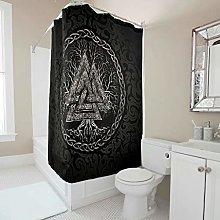 Gamoii Viking Valknut Yggdrasil Shower Curtain