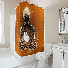 Gamoii Yin Yang Shower Curtain 3D Digital Print