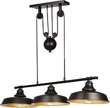 Ganeed 3-Light Pully Pendant Light,Rustic Kitchen