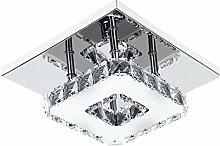 Ganeed 7.9Inch Modern Crystal Chandeliers,LED