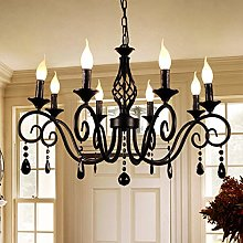 Ganeed Chandeliers,8-Light French Country Crysta