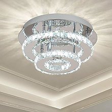 Ganeed Crystal Ceiling Light,Flush Mount Ceiling