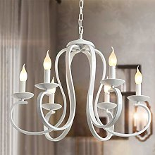 Ganeed French Country Chandelier,6-Light White