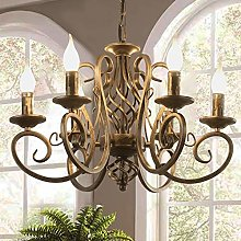 Ganeed French Country Chandeliers,6 Lights Candle