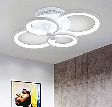 Ganeed Modern Ceiling Light,Metal Acrylic LED
